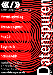 Flyer der Datenspuren 2008